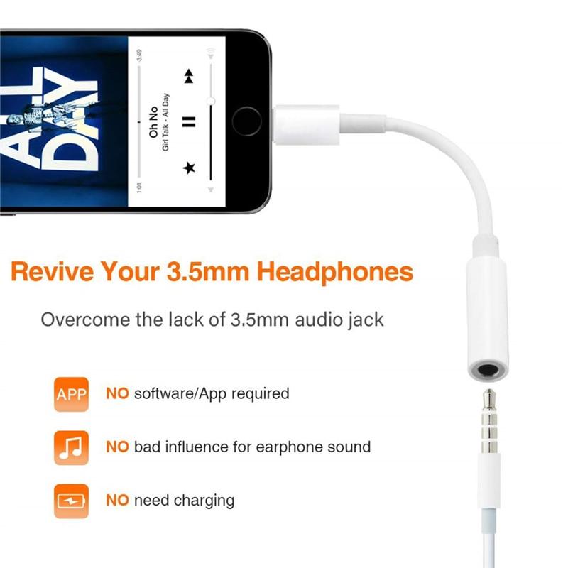 8Pin до 3,5 мм разъем аудио наушников сплиттер конвертер адаптер для IPhone 11 Pro X XR XS Max 8 7 Plus для Lightning до 3,5 мм Aux