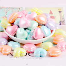 10Pcs Pearly Macaron Heart Shape Flatback Resin Cabochon Miniature Simualtion Fake Food Fit Phone Decoration DIY Scrapbooking(China)