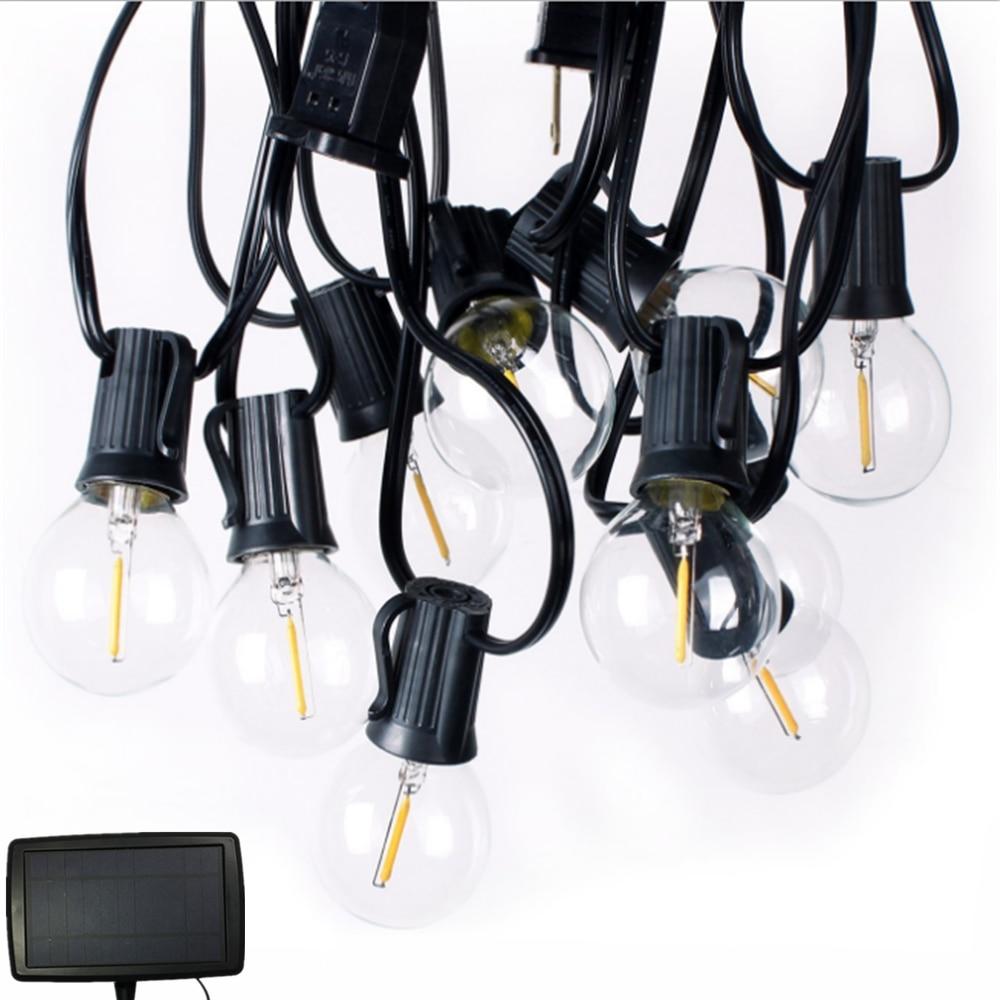 luzes da corda solar com 10 25 claro lampadas led patio quintal do vintage casa de