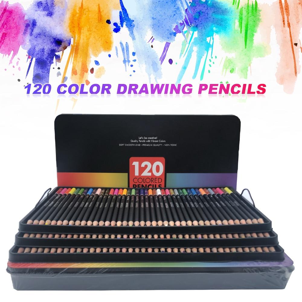 120Pcs/Set Drawing Sketch Pencil Set Manga Calligraphy Sketching Drawing Pencil Kit Colored Pens Pencils Stationery Art Supplies