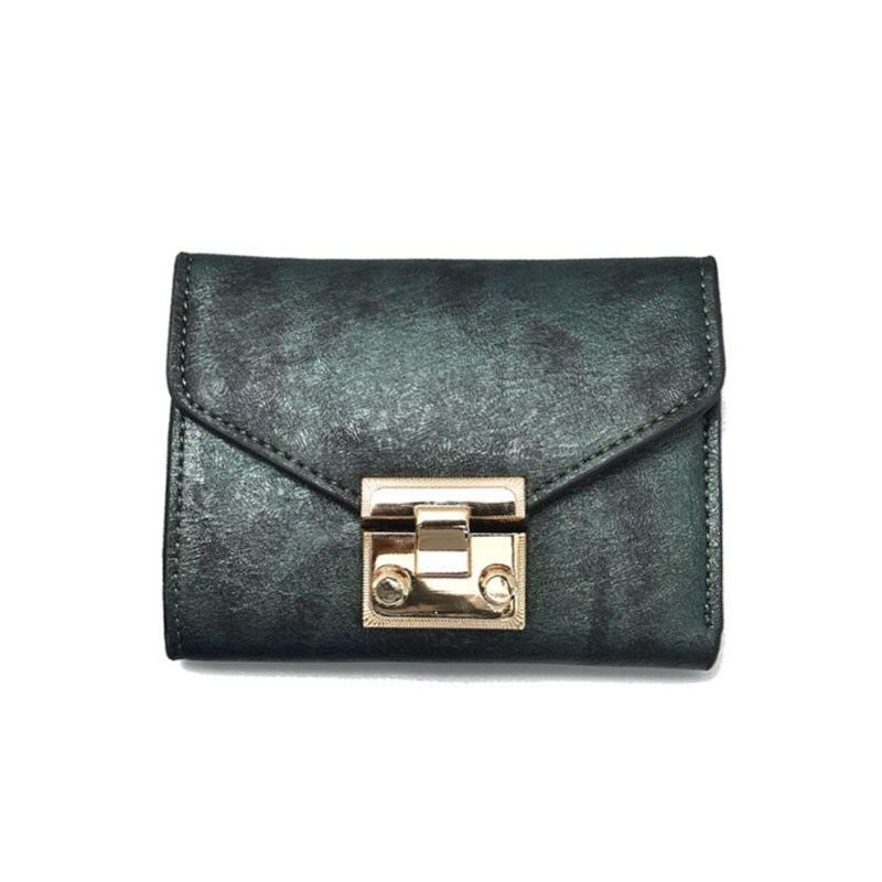 100 PCS/LOT portefeuilles pour femmes Vintage femme sac à main serrure embrayage porte-carte porte-monnaie offre spéciale dames court petit portefeuille carter
