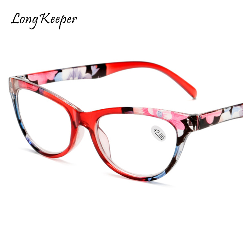 Cat Eye Reading Glasses Women Men Lightweight Presbyopic Printing Reading Glasses + 1.0 1.25 1.5 1.75 2.0 2.5 3.0 3.5 4
