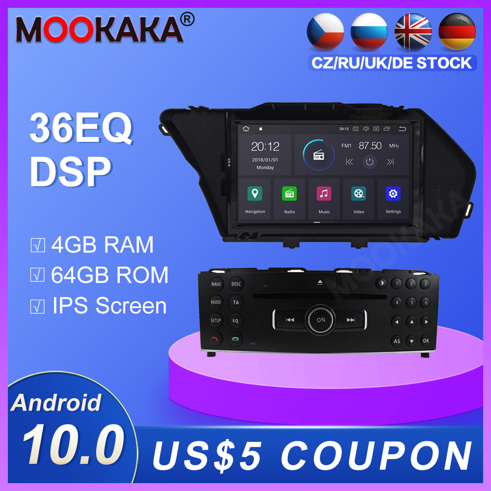 Android 10.0 4 + 64G araba radyo çalar GPS navigasyon için Mercedes Benz GLK X204 GLK300 GLK350 multimedya oynatıcı radyo stereo dsp