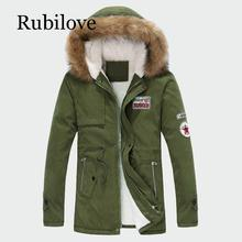 Rubilove Mens Thick Winter Coats Warm Male Jackets Padded Casual Hooded Parka New Men Overcoats Brand Clothing M-3XL