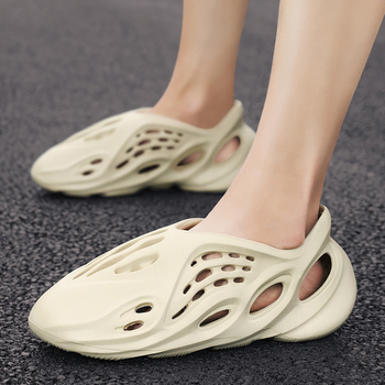 2020 new fashion EVA unisex Kanye female foam runner summer men's non-slip casual beach slippers male sandals hole garden shoes - discount item  48% OFF Men's Shoes