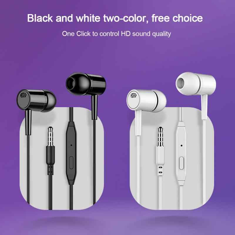Stereo Bass In-Ear Hoofdtelefoon Computer Subwoofer Universele Microfoon Wired Headset Voor Telefoons Samsung Xiaomi Iphone Apple