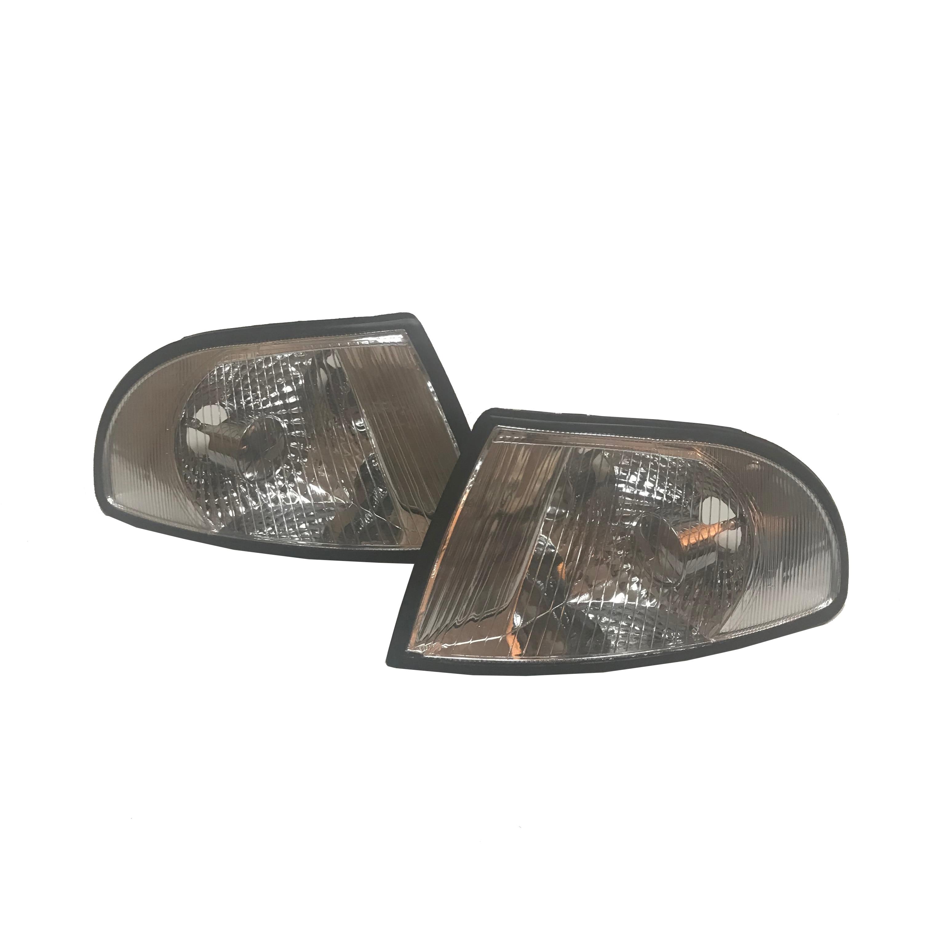 1 Pair Clear Lens Corner Lamp  For Audi A4 B5 S4 Front Corner Turn Signal Light Lamp 1994 1995 1996 1997 1998
