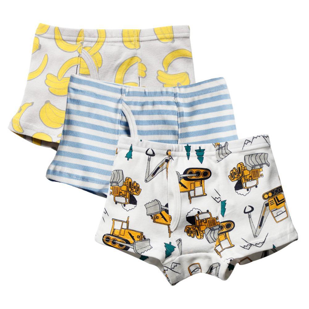 3Pcs/Set Kids Boys Underwear Cotton Boxer Brief Panties