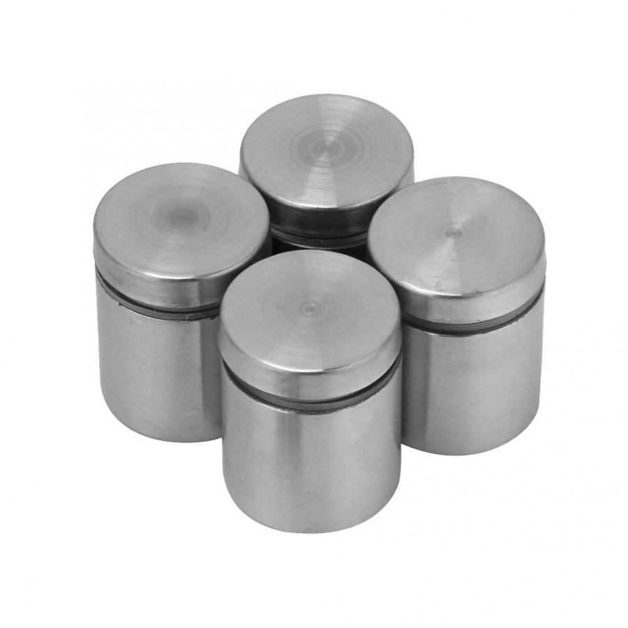 4Pcs/set 25*25/30/40mm Stainless Steel Advertise Fixing Pins Glass Standoff Mounting Bolts