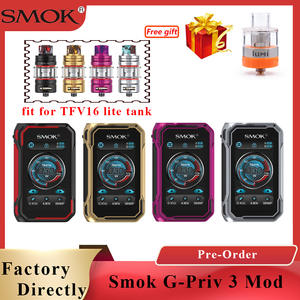 SMOK PRIV Chipset-Support Tfv16-Lite Dual 18650 Tank Battery-G 230w-Powered 3-Mod 3-Vaporizer