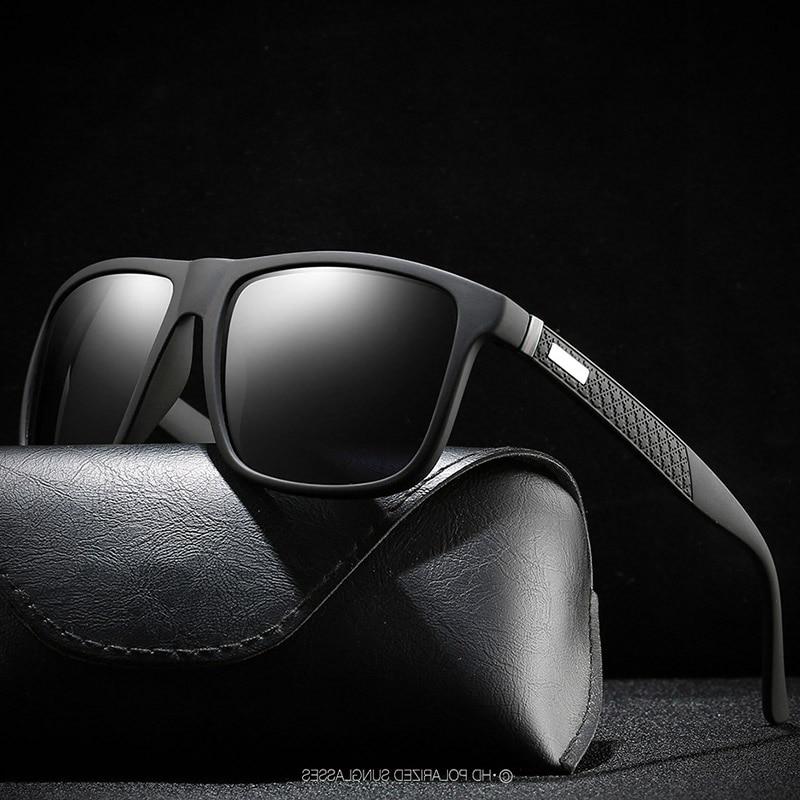Brand Polarized Sunglasses Square Frame Classic Male Coating Mirror Sunglass Men Driving Sun Glasses UV400 Shades Gafas De Sol