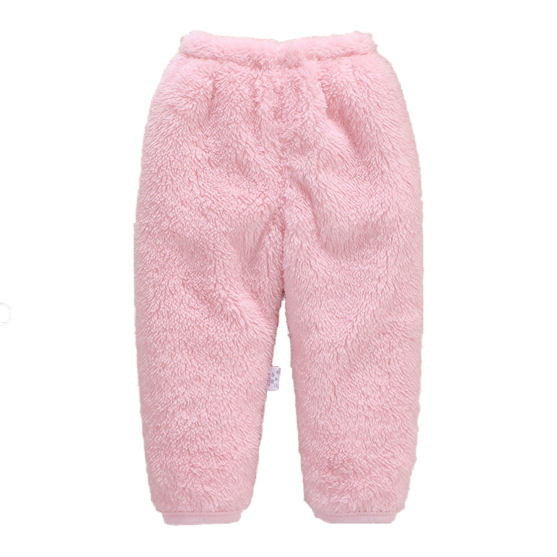 Baby Coral Fleece Long Pants Thickened Warm Flannel Infant Pants Newborn Bebe Boys Girls Trousers Baby Leggings In Winter Autumn