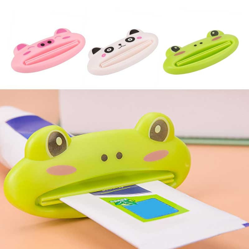 1pc Animal Easy Toothpaste Dispenser Plastic Tooth Paste Tube Squeezer Useful Toothpaste Rolling Holder For Home Bathroom A30731(China)