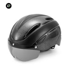 ROCKBROS Bike Men Women Helmet Cycling EPS Integrally-molded Breathable With Goggles Lens Mtb Bicycle Safety Helmet 57-62 CM цены