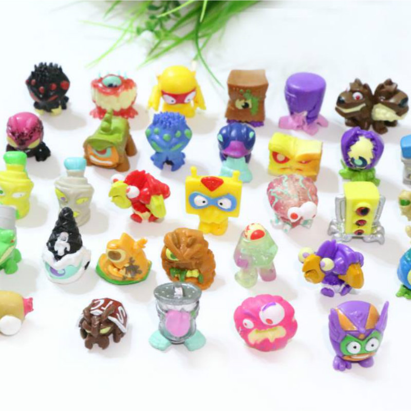 50pcs/lot Hard Pvc Little Animal Toys Superzings 2.5-3cm Capsule Worm Anime Novelty Cartoon Action Figures Hot Toys For Children