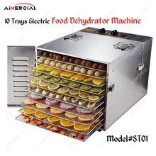 ST01 electric 10 layer food dryer dehydrator commercial food dehydrator stainless steel Fruit Vegetable Herb Meat Drying Machine цена и фото