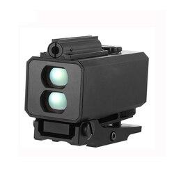 Mini Laser Range Finder Montieren auf Gewehr Entfernungsmesser für Outdoor Jagd Schießen Abstand Geschwindigkeit Echt-zeit Vermesser 700m