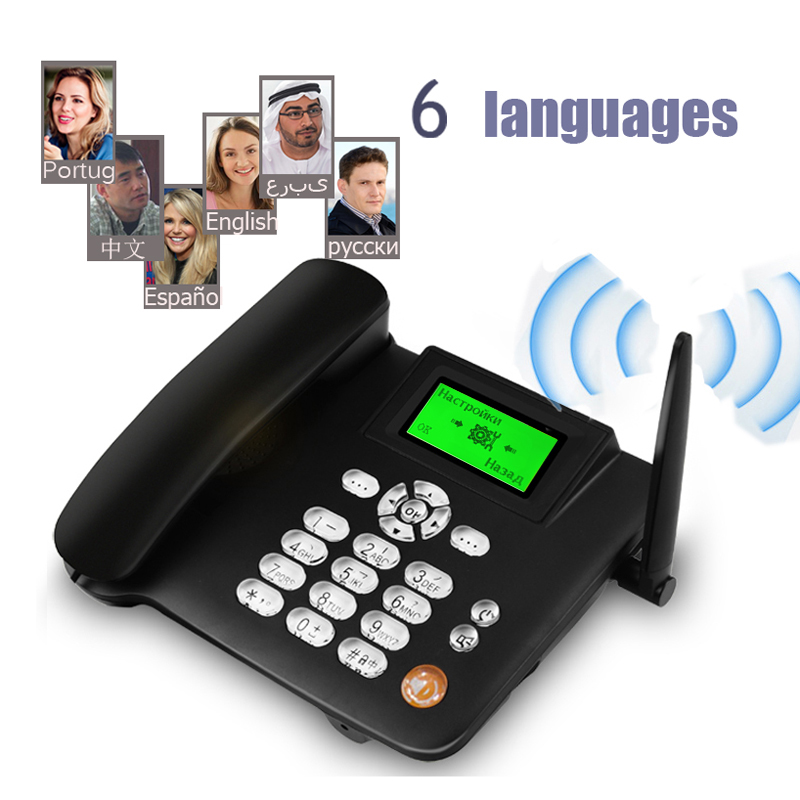 Ultimate SaleLandline Phone Support Office-House Sim-Card Fixed CORDLESS GSM Home White Black 900