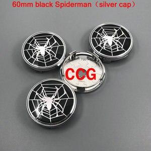 4 шт. 56 мм 60 мм логотип Человека-паука эмблема автомобильной шины колпачок центральной ступицы колеса Автомобильный обод ремонт пылезащитный значок колпачки стикер