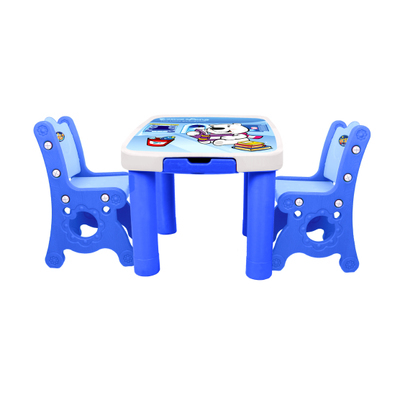 Baby Desk Kindergarten Learning Table And Chair Set Combination Plastic Cartoon Child Small Square Table Home