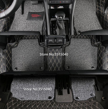 Leather Wire Mats Special Car Floor Mats Custom Fit For Skoda Kodiaq 2017 5 seats/7 seats Car Styling Carpet Cover Accessories