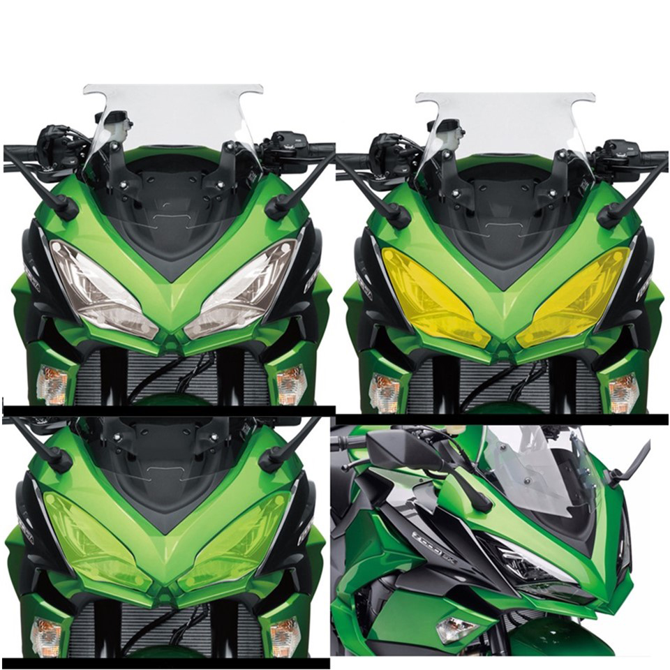 Motorcycle trend accessories headlight protective cover screen lens suitable fit <font><b>KAWASAKI</b></font> <font><b>Z1000SX</b></font> Z1000 SX 2017 <font><b>2018</b></font> NINJA 1000 image
