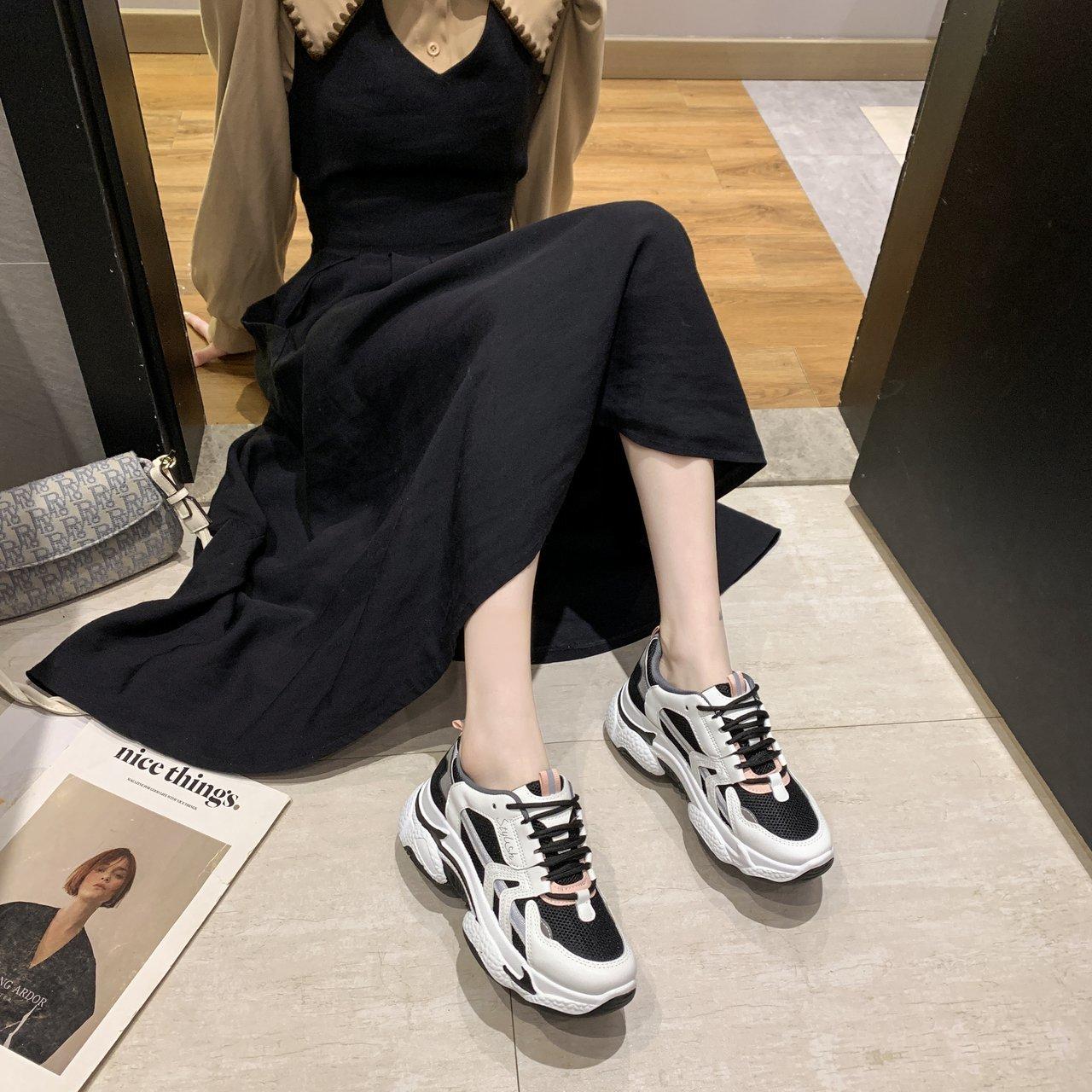 confortáveis 2021 primavera mulher tênis plataforma dedo