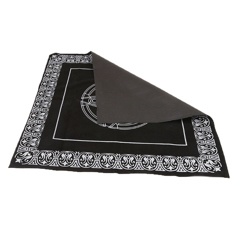 jiulonerst 49x49cm Pentacle Tarot Tablecloth,Astrology Divination Playing Cards Board Game Supplies for Children Adult