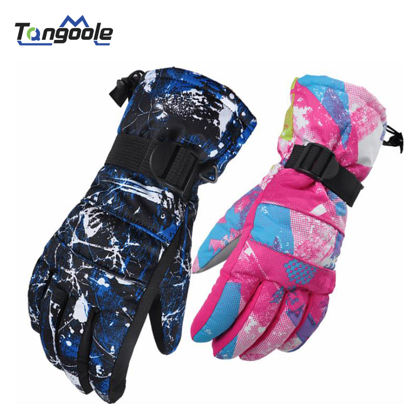 AS FISH Professional Head All-weather Waterproof Thermal Skiing Gloves For Men Women Winter Ski Gloves Outdoor Snowboard Gloves