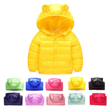 Rabbit Ear Girls Coat and Boys Hooded Jacket for Children Tops Clothes 2019 Autumn Winter Down-Cotton 1-7Y Kids Warm Outerwear children autumn and winter warm clothes boys and girls thick cashmere sweaters