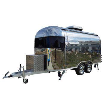 custom blue food truck mobile food trailer Retro Food Truck Mobile Food Trailer