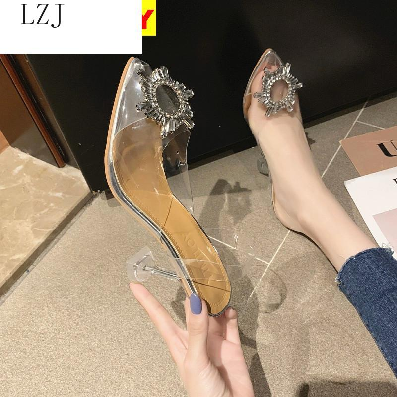 2020 Pvc Clear Transparent Fetish Luxury Designer Woman Extreme Mules Super High Heels Women Sexy Shoes Ladies Pumps Sandals