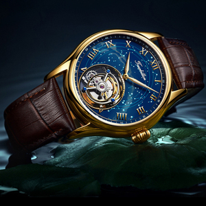 Image 2 - Tourbillon GUANQIN Men watches top brand luxury real Tourbillon clock men Sapphire Hand Wind mechanical watch Relogio Masculino