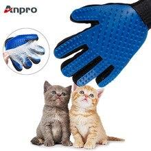 Anpro, 1 шт., перчатки для удаления кошачьей шерсти, перчатки для ухода за кошками, перчатки для чистки собак, перчатки для удаления волос, эффективные массажные расчески для собак