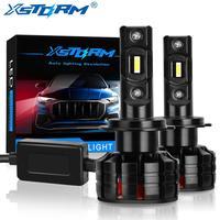Faros LED mini para coche, bombillas de 100W para automóviles, 16000LM, H1, H3, H4, H7, Canbus, H8, H11, HB3, 9005, HB4, 9006, lámpara, 2 uds.
