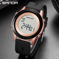 Sanda LED Digital herren Uhr Outdoor multifunkt Elektronische Uhren Sport Trend Einfache Stoßfest ABS Fall Student Armbanduhr