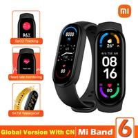 Xiaomi Mi Band 6 Smart Armband 5 Farbe AMOLED Bildschirm Miband 6 Blut Sauerstoff Traker Fitness Bluetooth Wasserdichte Smart Band