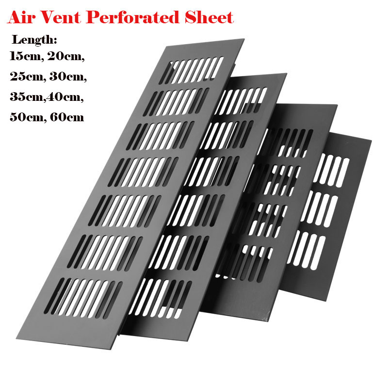 Furniture Hardware Aluminum Alloy Ventilation Mesh Rectangular Cabinet Wardrobe Ventilation Vent