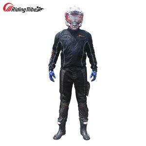Image 5 - Tribo de equitação da motocicleta equitação proteção calças motorcross anticollision respirável wearable primavera verão com joelheira hp 02