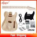 Полный комплект Aiersi из массива липы Tele Style Сделай Сам Создай свои наборы для электрической гитары Незаконченный TL набор со всеми деталями об...
