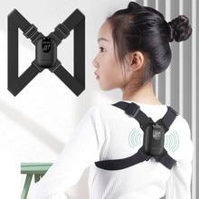 Smart LED Display Posture Correction Belt With Vibration Reminder Adjustable Anti-hunchback Brace Support Belt Posture Corrector