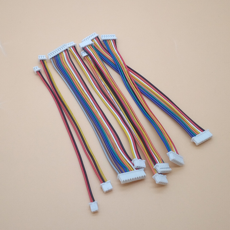 10Pcs JST 1.25MM 2P/3P/4P/5P/6P/7P/8 Pin Same / Reverse Direction Double Connector With Wire 100MM Ribbon Cable 28AWG JST1.25
