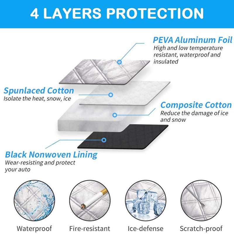Car Windshield Snow Cover Waterproof Protection For Winter 5