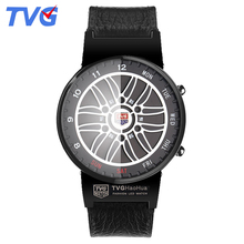 Men Watches TVG Clock Led-Display Digital-Time Stainless-Steel Waterproof Silicone Fashion