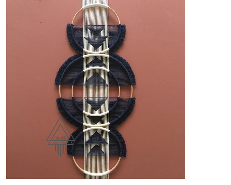 100% ручной работы творческое, настенное плетеное гобелен Скандинавское украшение домашний Ловец снов украшение для дома - 4
