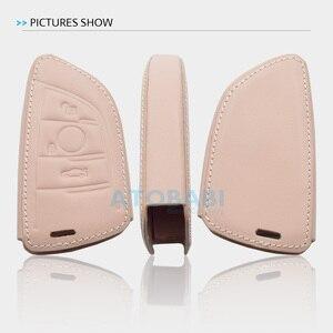 Image 5 - Leather Car Key Case For BMW E90 E60 E70 E87 1 3 5 6 Series M3 M5 X1 X5 X6 Z4 Keychain Holder Protector Cover Bag Auto Accessory