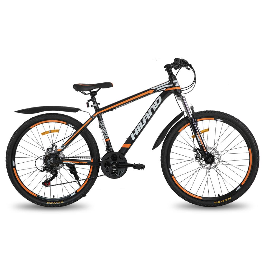Moscow Warehouse HILAND 26 Inch Steel Frame MTB 21 Speed bicycle Mountain Bike bicycle Double Disc Brake