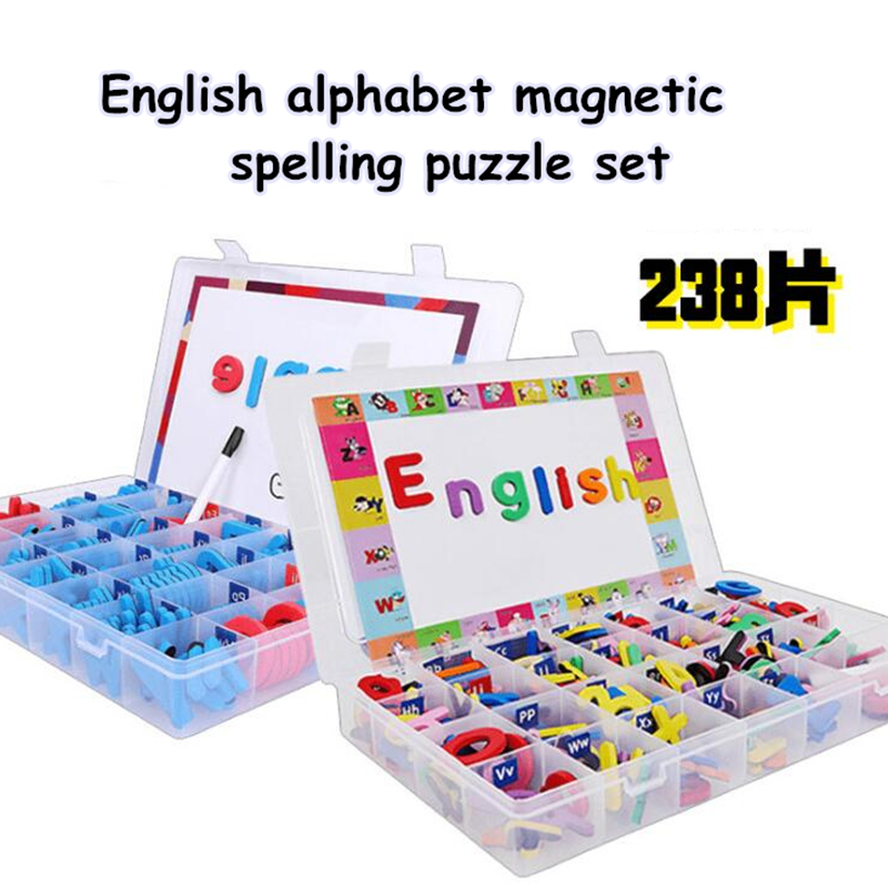 English alphabet Magnetic Fun Alphabet A-Z Educational Toys English Capital Magnetic Stickers Spell Words English Early toy 1