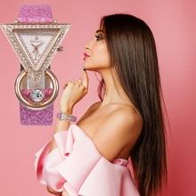 Women Watches 2020 New Stylish Luxury Creative Triangle Crys