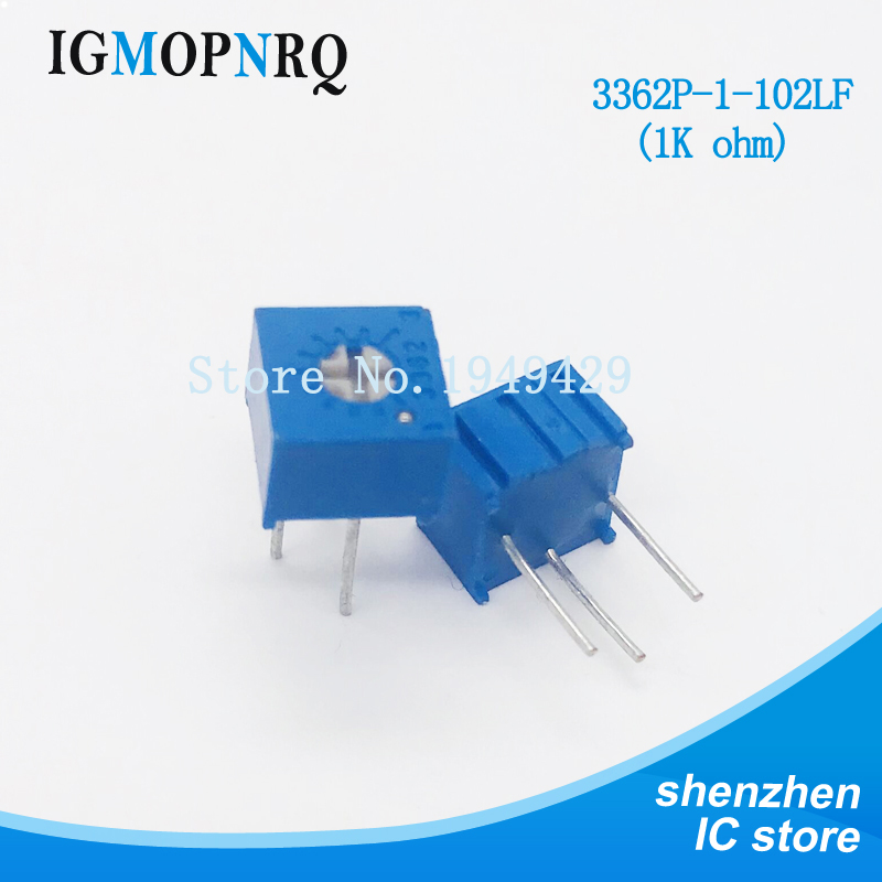 10Pcs/Lot 3362P-1-102LF 3362P 102 1K <font><b>ohm</b></font> Trimpot Trimmer Potentiometer Variable <font><b>resistor</b></font> new original image